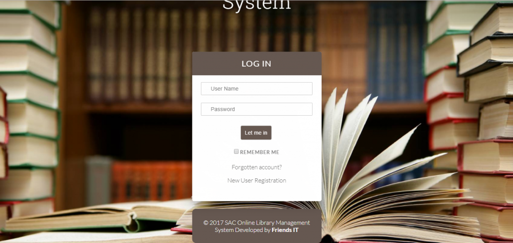 Online Library Management System For Librarian Readers Friends It